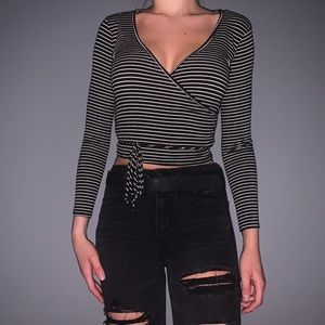 striped wrap top from FOREVER21